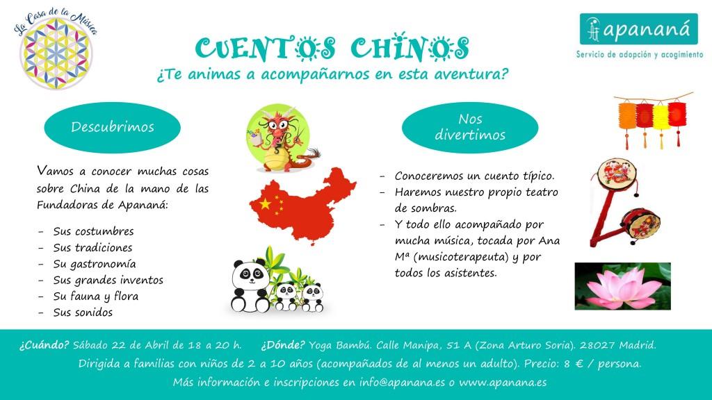 Cartel cuentos chinos